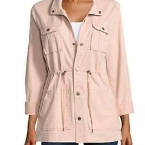 NWOT Rose Pink Cotton Utility Jacket Size S